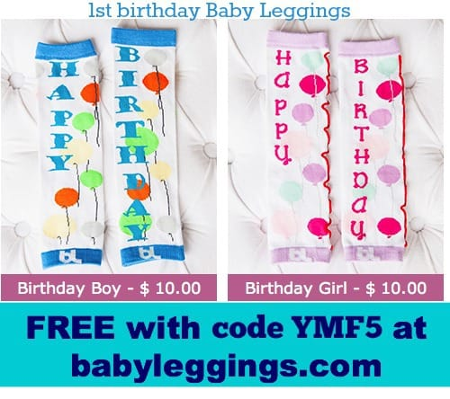 happy birthday baby leggings - FREE!