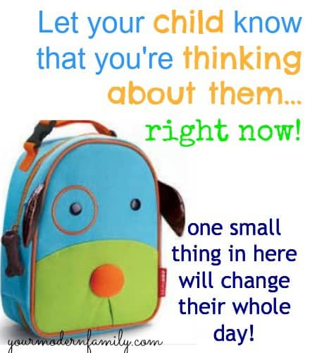 note in your childs lunchbox