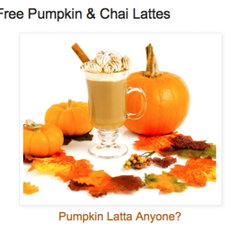 A glass containing a pumpkin latte with leaves and pumpkins around it.