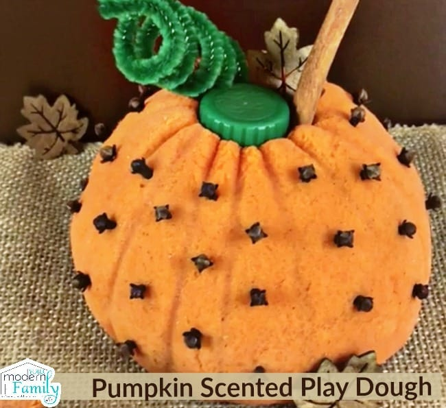 So fun for kids! Pumpkin scented play dough (house smells great when you make it!)
