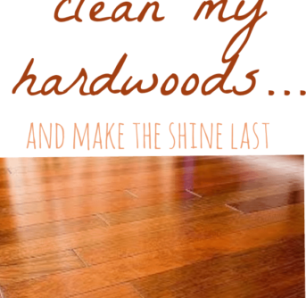best way to clean dark hardwood floors