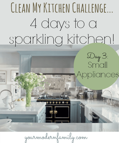 how to clean small appliances