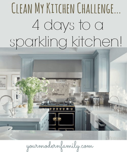 Clean My Kitchen challenge easy tips & steps to a cleaner