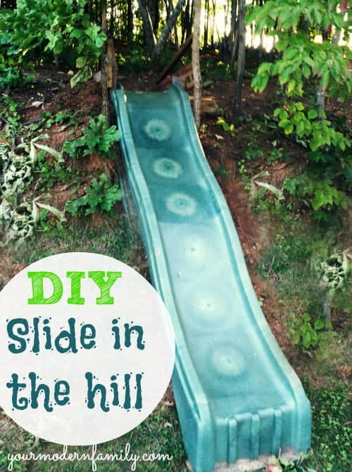 diy slide in the hill