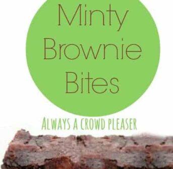 minty brownie bites