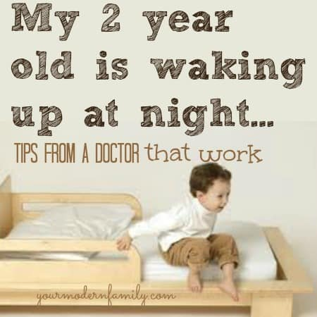 my 2 year old is waking up at night