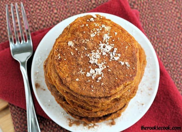 Whole Grain Gingerbread Pumpkin Pancakes - Your Modern Family