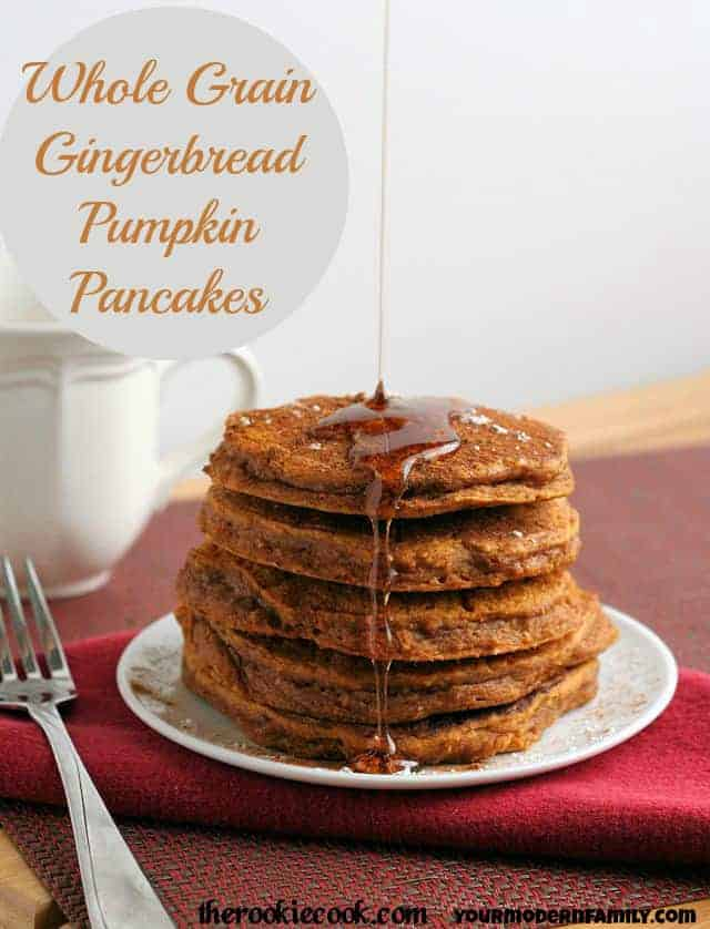 Whole Grain Gingerbread Pumpkin Pancakes 6 mark