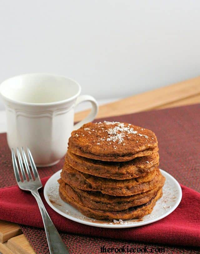 Whole Grain Gingerbread Pumpkin Pancakes: