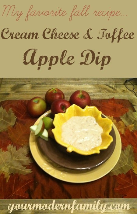 cream cheese and toffee apple dip recipe