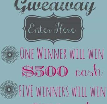 Fall Giveaway for $500 cash (or five winners will win... $50 cash)