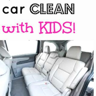How to keep the car clean with kids  (best car vacuum & a DIY carpet freshener )
