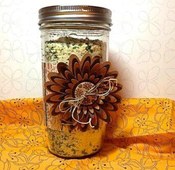 potato soup in a jar