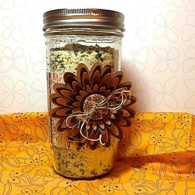 potato soup in a jar