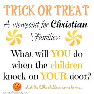 should christians go trick or treating?
