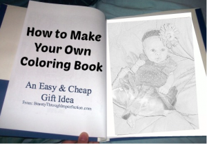 Almost FREE coloring book with your child's pictures