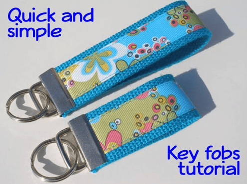 DIY key fobs - cheap & easy to make for a gift.