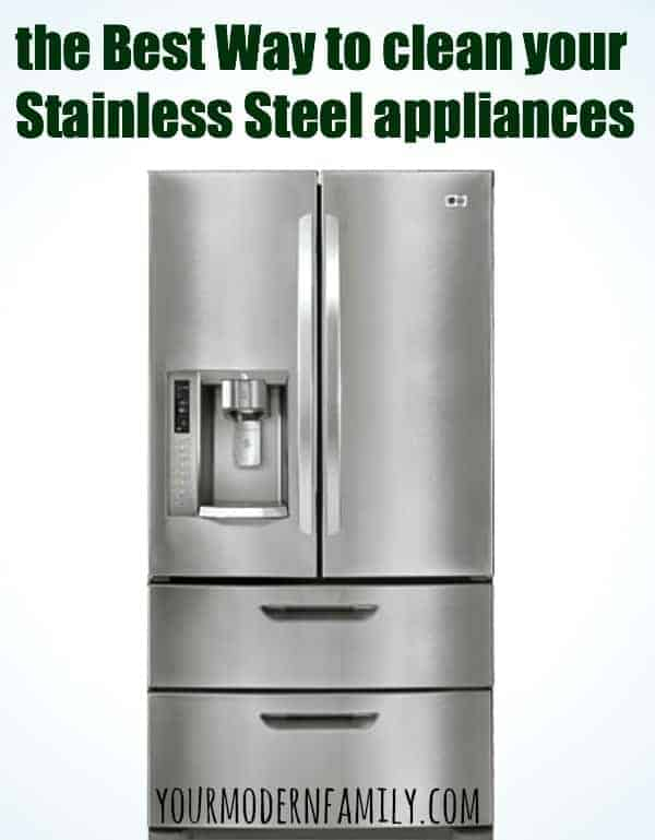 best way to clean stainless steel appliances