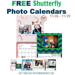 FREE photo calendar & more offers through 11/30/13