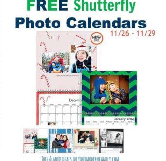 FREE photo calendar & more offers through 11/30/13