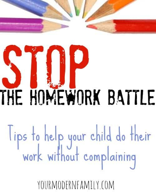 """""""My child fights me on homework."""" - 5 tips to stop the homework battles. (from a mom & a teacher)"""