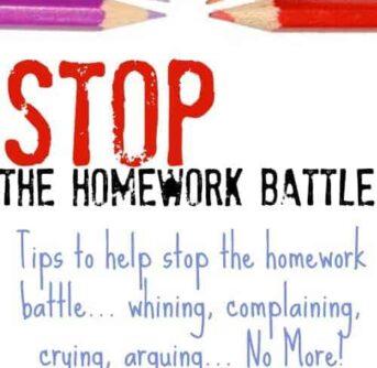 fights me on homework