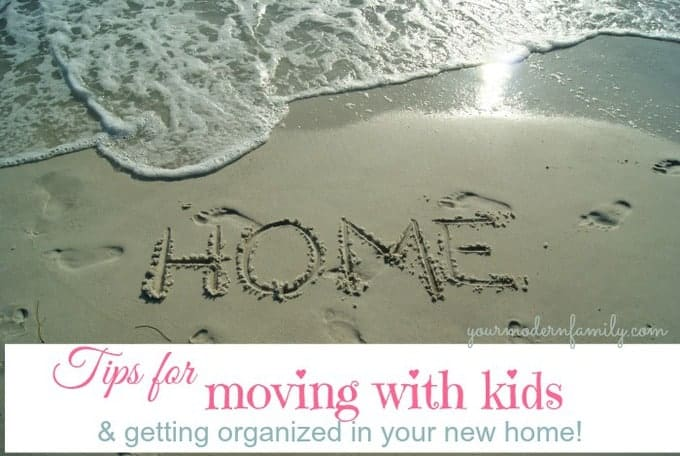 tips for moving with young-middle aged kids
