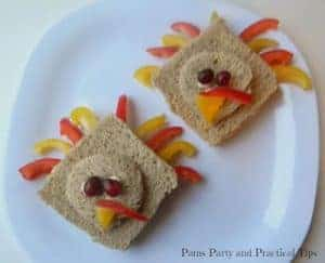 "Make a 'turkey"" sandwich with tuna, chicken or PB&J."