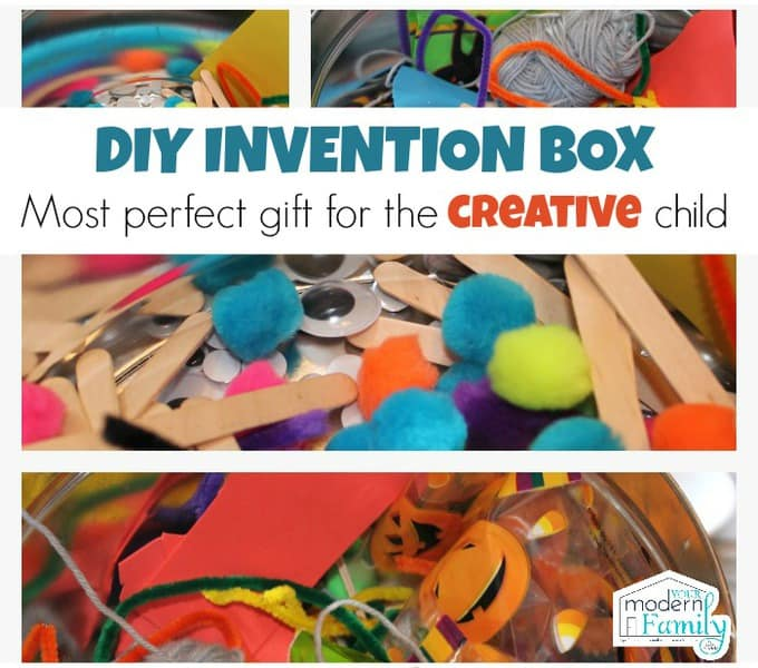 DIY invention box - best gift EVER for the creative child!