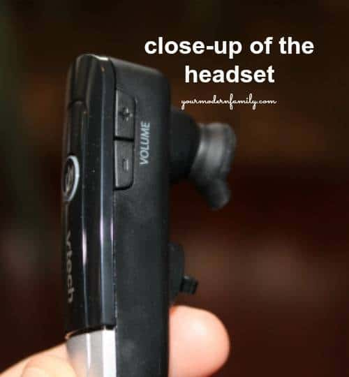 A close up of a head set.