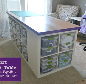 DIY Craft table - step by step (uses ikea products)