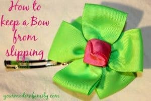 how to keep a bow from slipping out of fine hair - EASY trick that takes a few seconds!