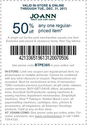 coupon for Jo-Ann