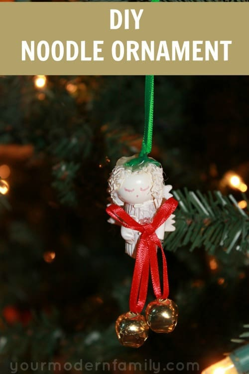 diy noodle ornament (great craft for Christmas Day!)