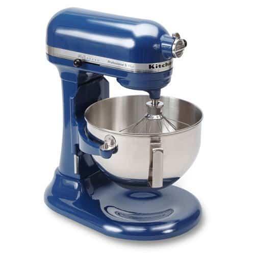 A blue KitchenAid Mixer.