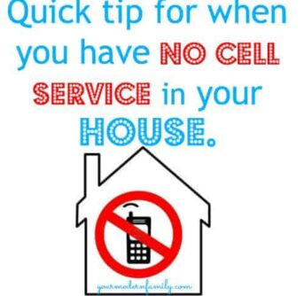 no cell service in the house