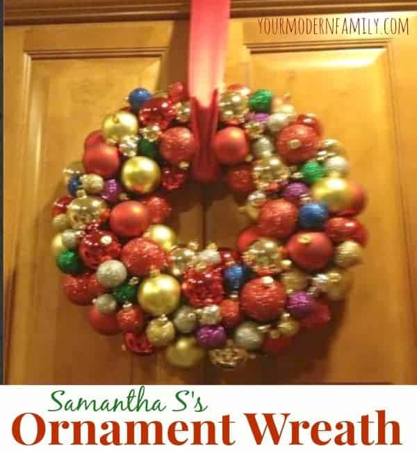 Samantha's DIY Ornament Wreath