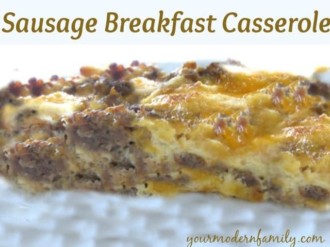 Make- Ahead sausage breakfast casserole