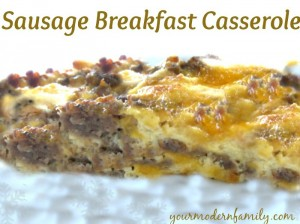 Sausage Breakfast Casserole - this is SO good for Christmas morning & you make it the day before so its ready to be put in the oven!
