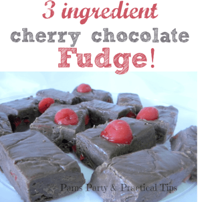 3 ingredient fudge that everyone will love! So easy to make! Great for parties, too!