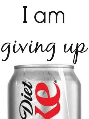 How & why I am giving up my diet coke.