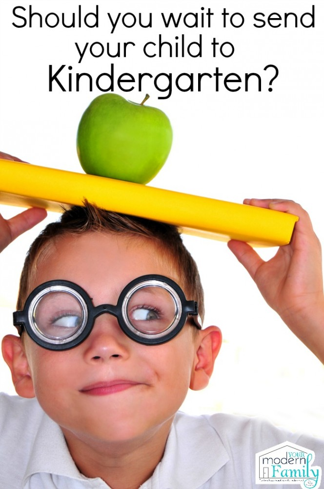 should you wait to send your child to Kindergarten