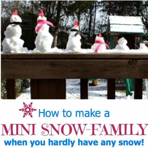 make a mini snow man when you don't have a lot of snow!