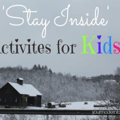 stay inside activities for kids