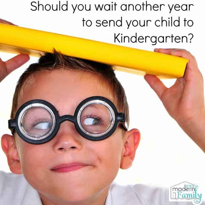 wait to send child to Kindergarten