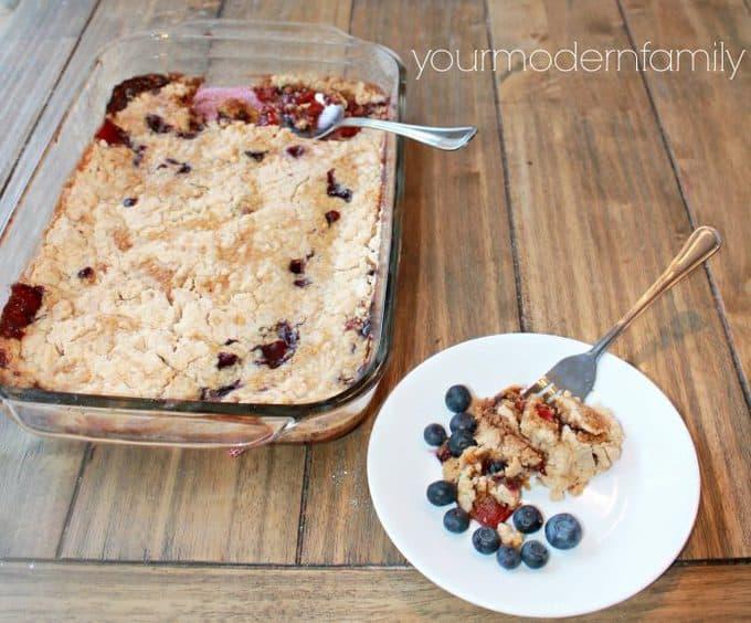 4 ingredient Blueberry Dump Cake (so good!)