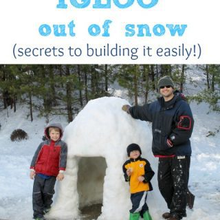 How to build an igloo out of snow  (secrets to building it easily)