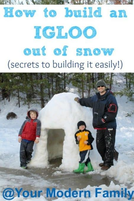 How to build an igloo out of snow (& tips to building it easily!)