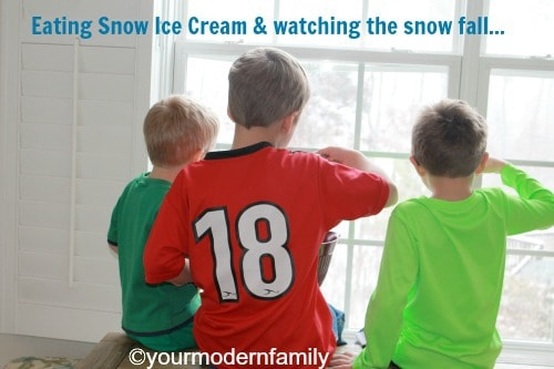 Painting the snow…  this is a great kid activity!!