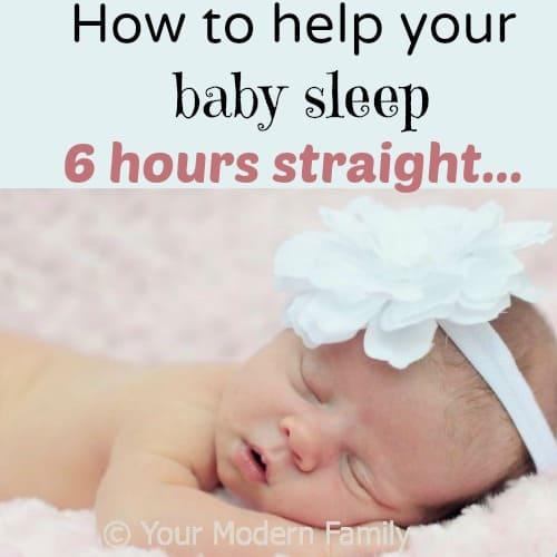 help baby sleep 6 hours